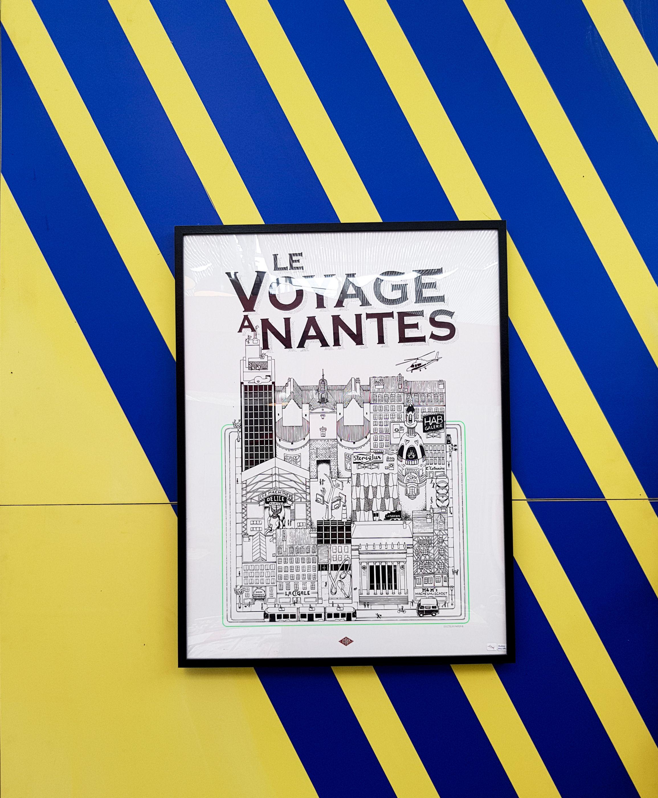 affiche LVAN le voyage à nantes Docteur Paper Tourisme Nantes City illustration illustrateur