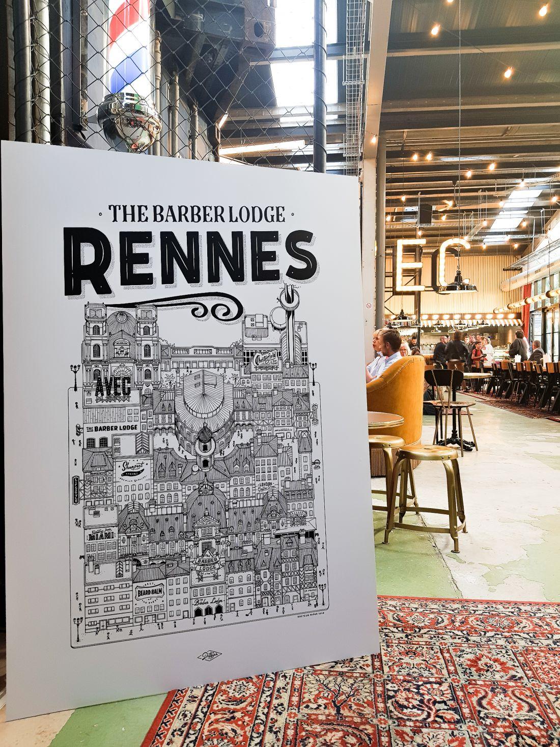 Rennes Illustration Ville Docteur Paper Illustrateur The Barber Lodge