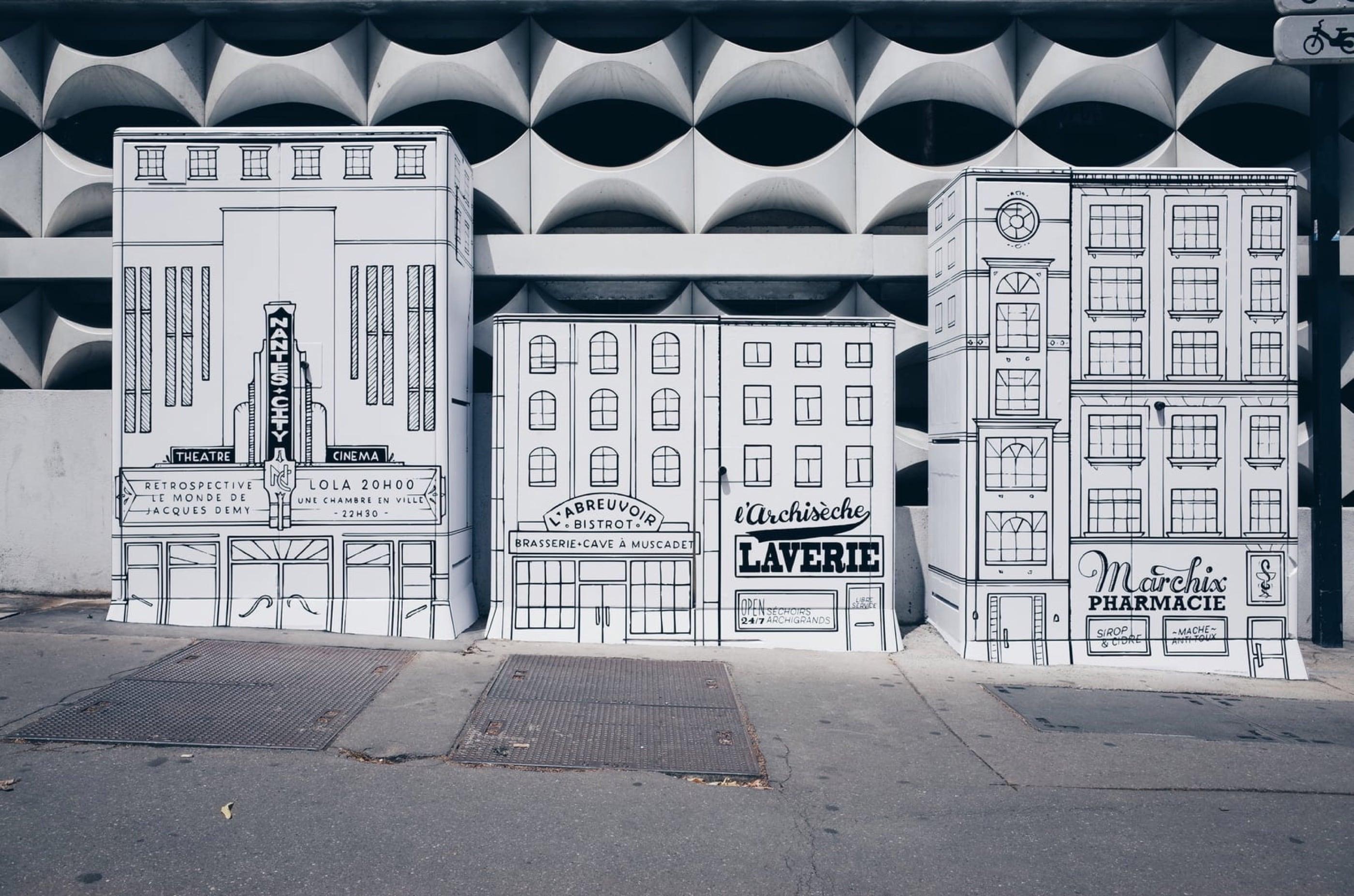 Nantes City Street Art LVAN Docteur Paper Le Voyage a Nantes illustrateur