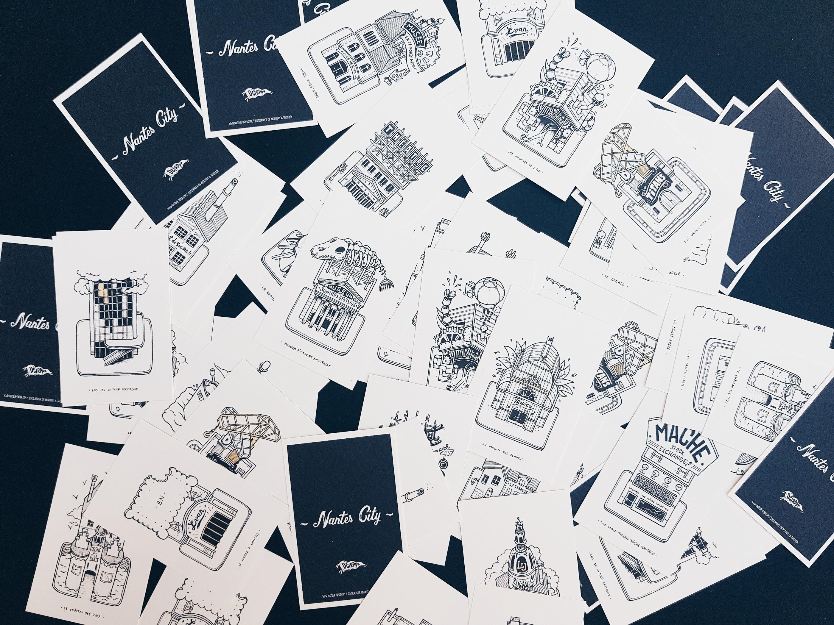 Nantes City Illustration Docteur Paper les Buldingz ville illustrateur