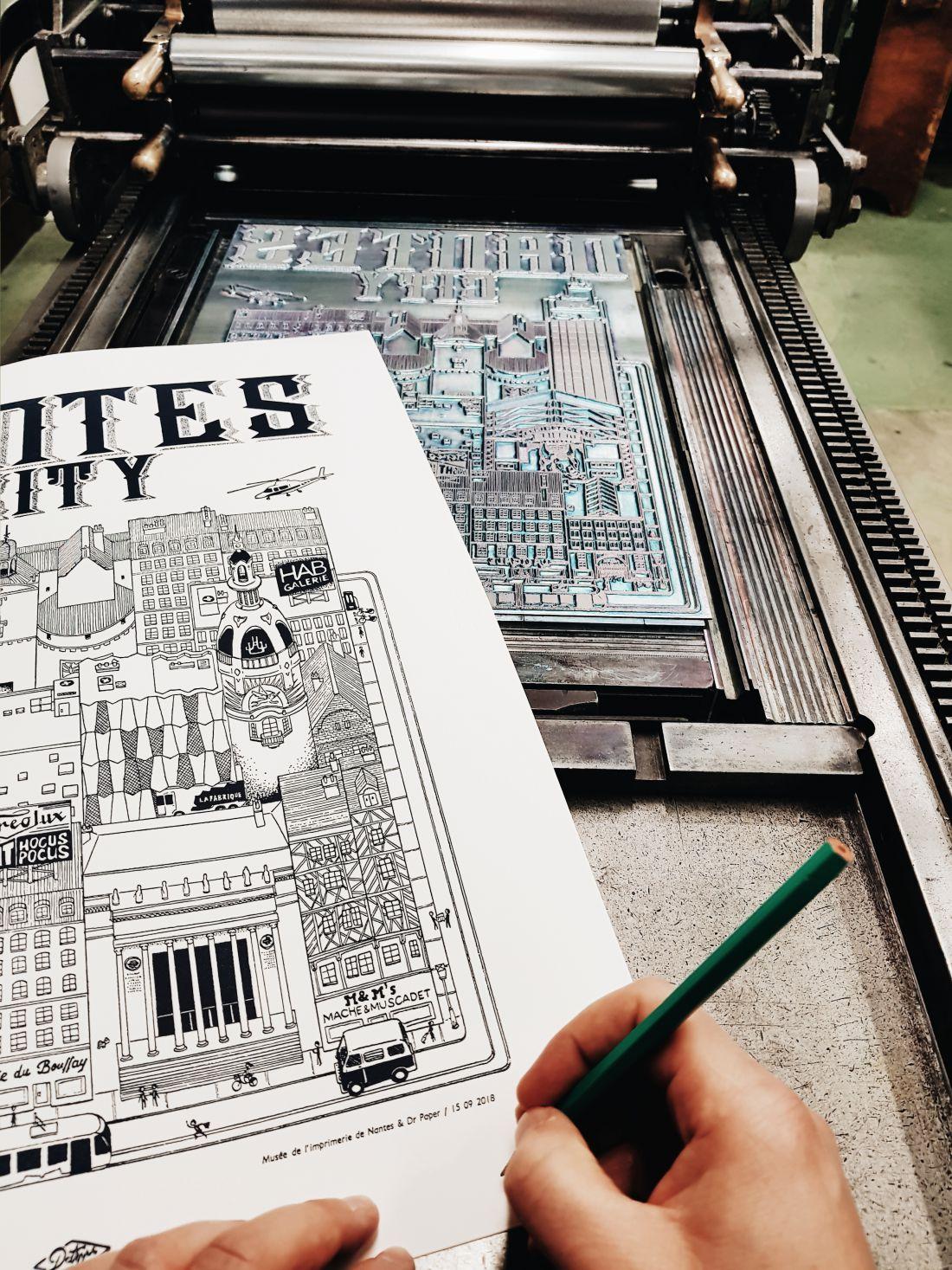 Nantes City illustration Docteur Paper ville illustrateur