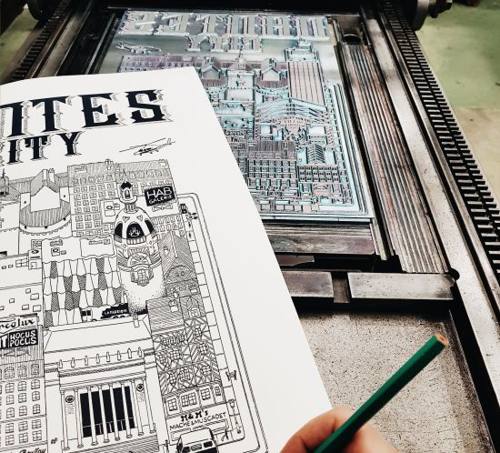Nantes City illustration Docteur Paper ville illustrateur
