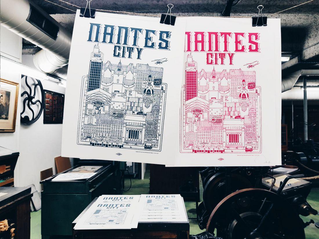 Nantes City illustration Docteur Paper