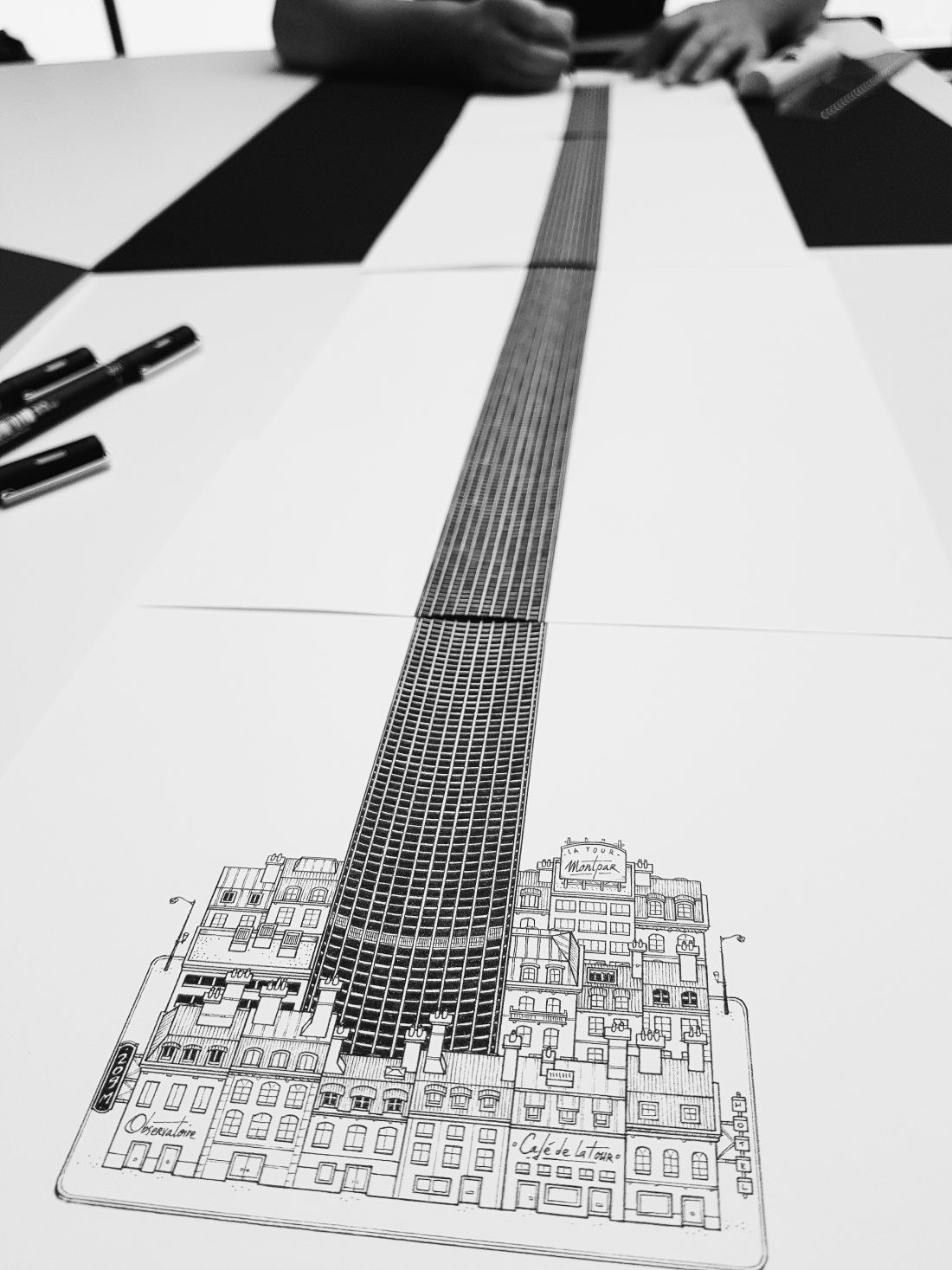 Tour Montparnasse illustration Docteur Paper