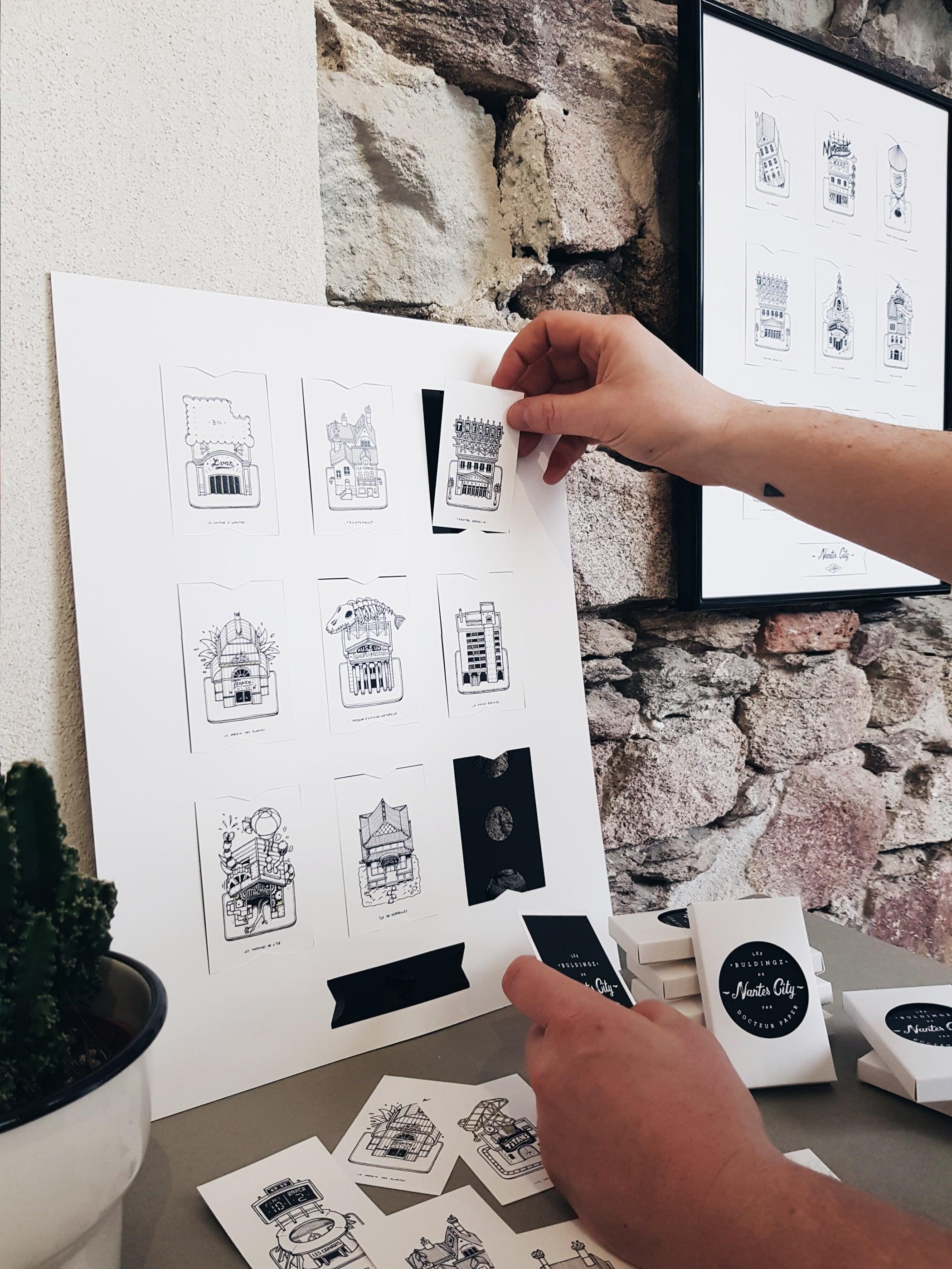 Nantes City Illustration les Buldingz Docteur Paper ville illustrateur