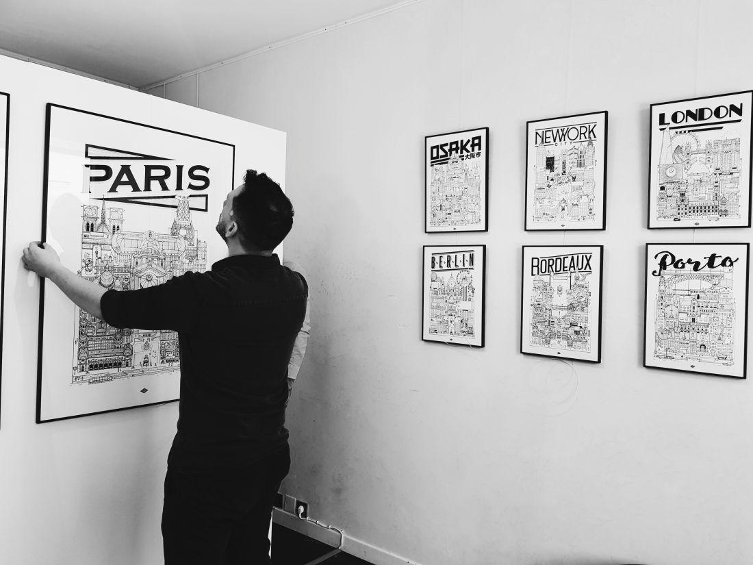 Exposition Docteur Paper Paris Galerie illustration illustrateur ville