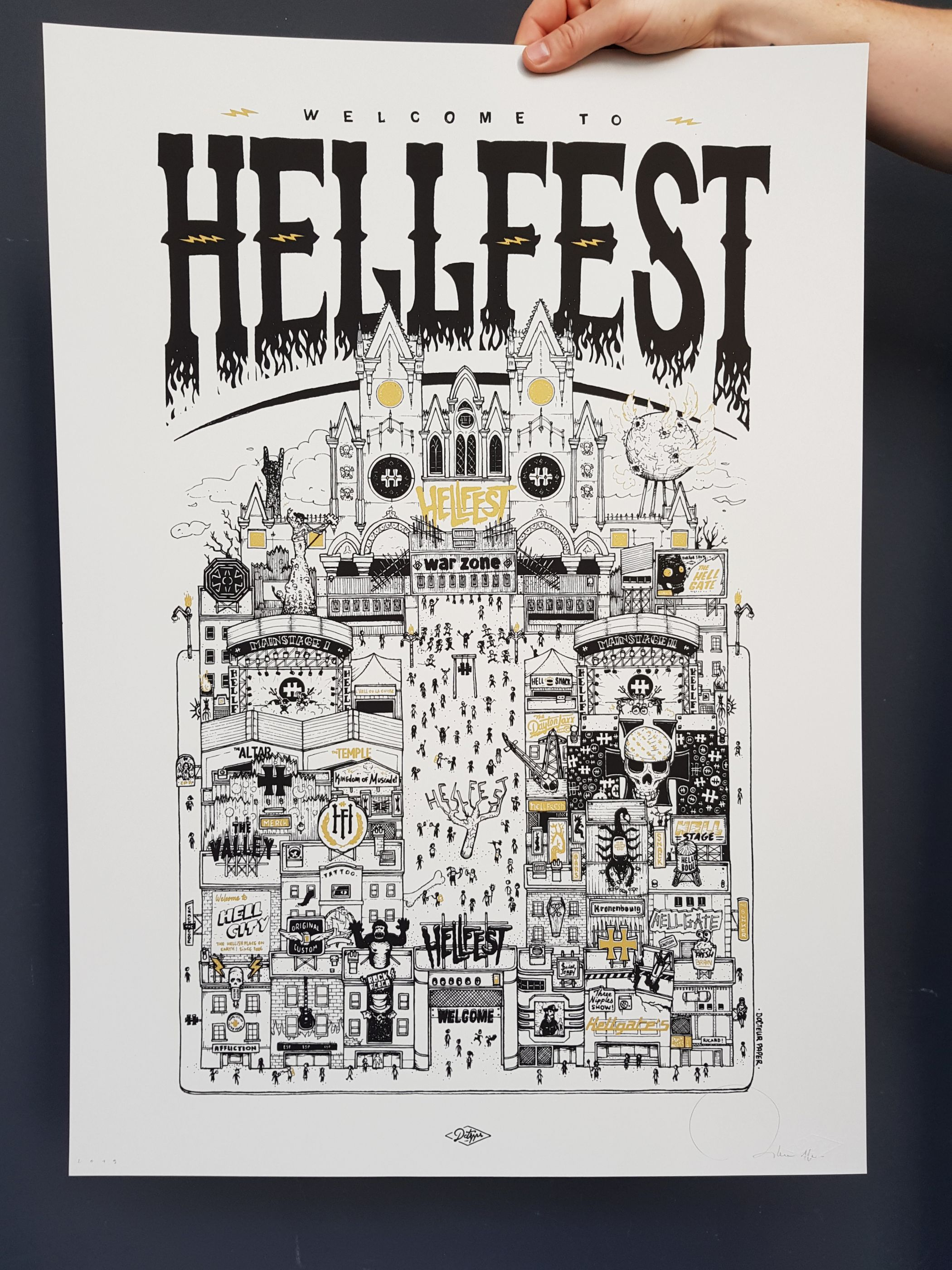Hellfest Illustration Nantes Atelier du Grand Chic
