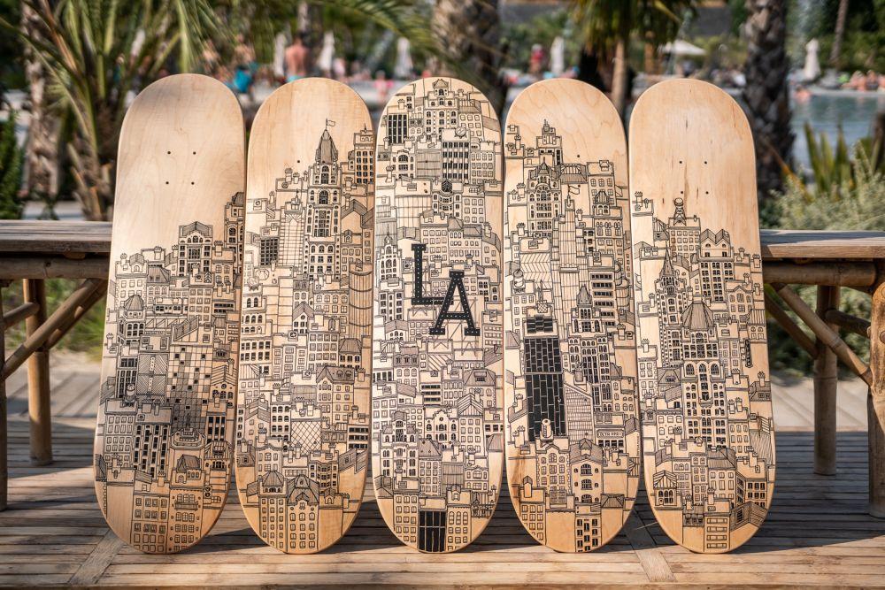 The Art Camp Docteur Paper Skate Posca illustration LUCAS BEAUFORT