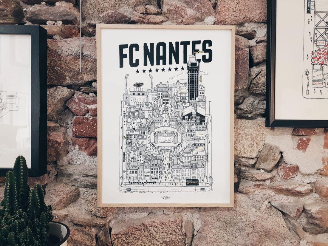 FC NANTES Docteur Paper ILLUSTRATION Nantes City FOOTBALL FOOT