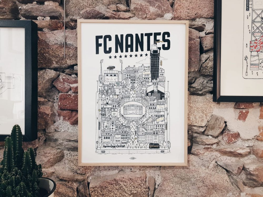 FC NANTES Docteur Paper ILLUSTRATION Nantes City FOOTBALL FOOT