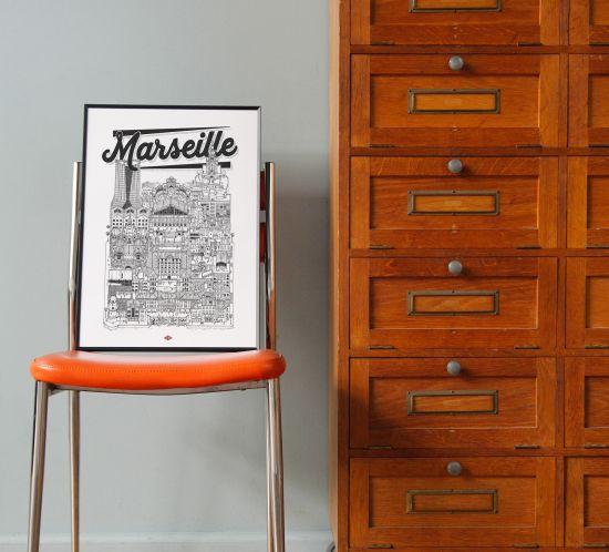 MARSEILLE DOCTEUR PAPER ILLUSTRATION VILLE
