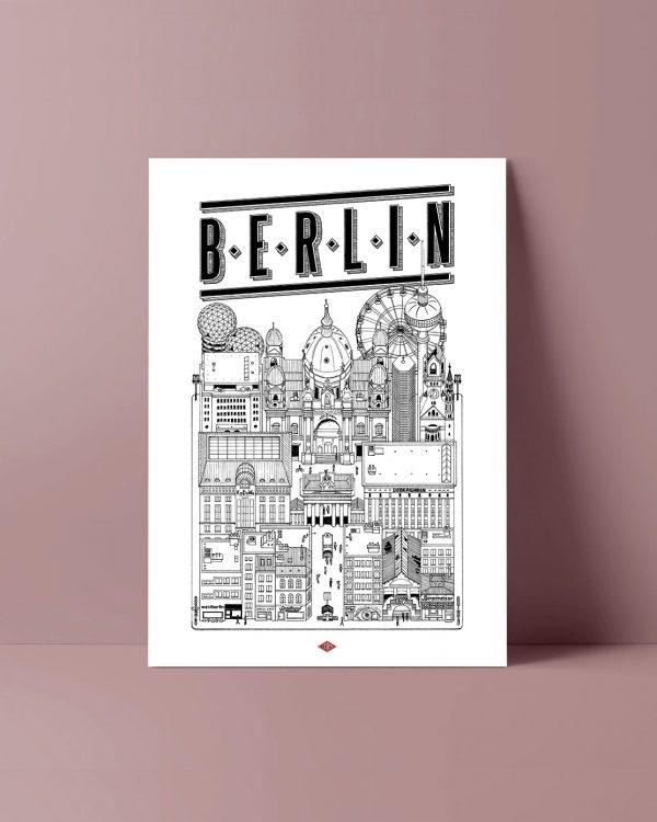 BERLIN Docteur Paper ILLUSTRATION AFFICHE VILLE