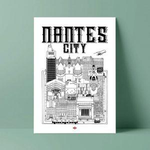 NANTES CITY Docteur Paper ILLUSTRATION AFFICHE VILLE