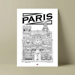 PARIS ILLUSTRATION Docteur Paper VILLE AFFICHE