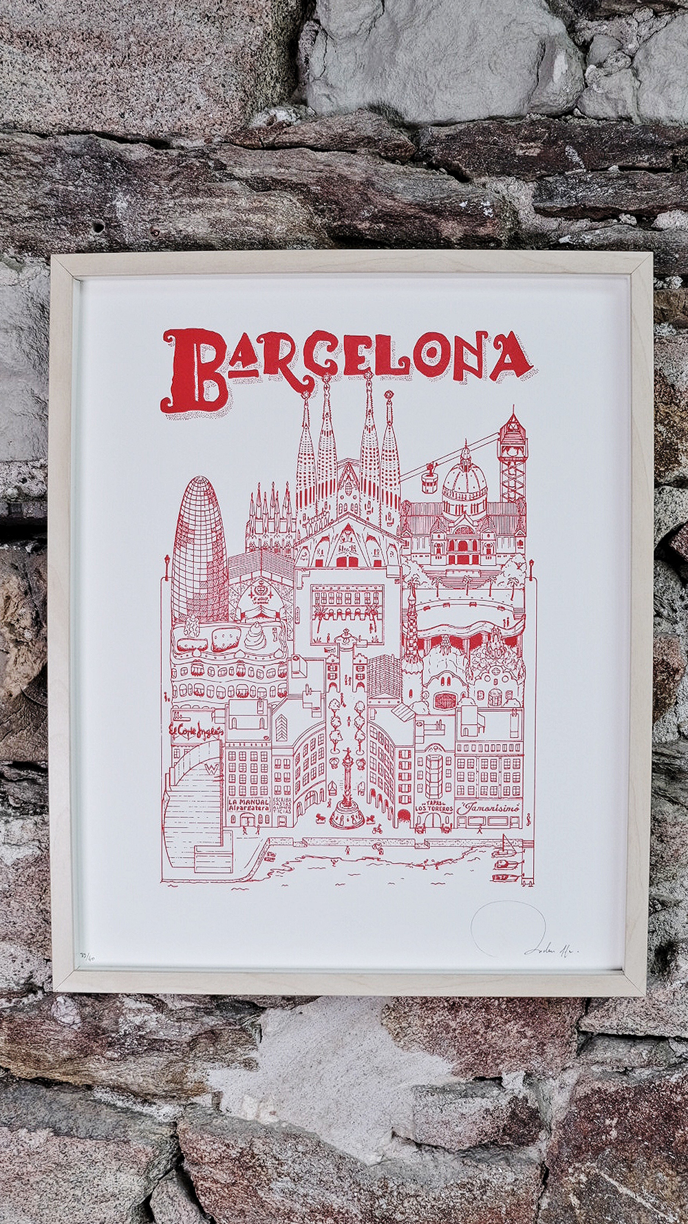 SERIE LIMITEE SHOP Docteur Paper LETTERPRESS AFFICHE ILLUSTRATION BARCELONA