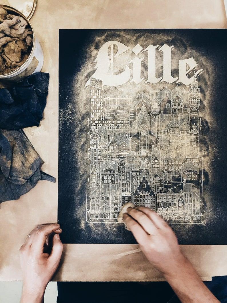 Lille Gold & Black