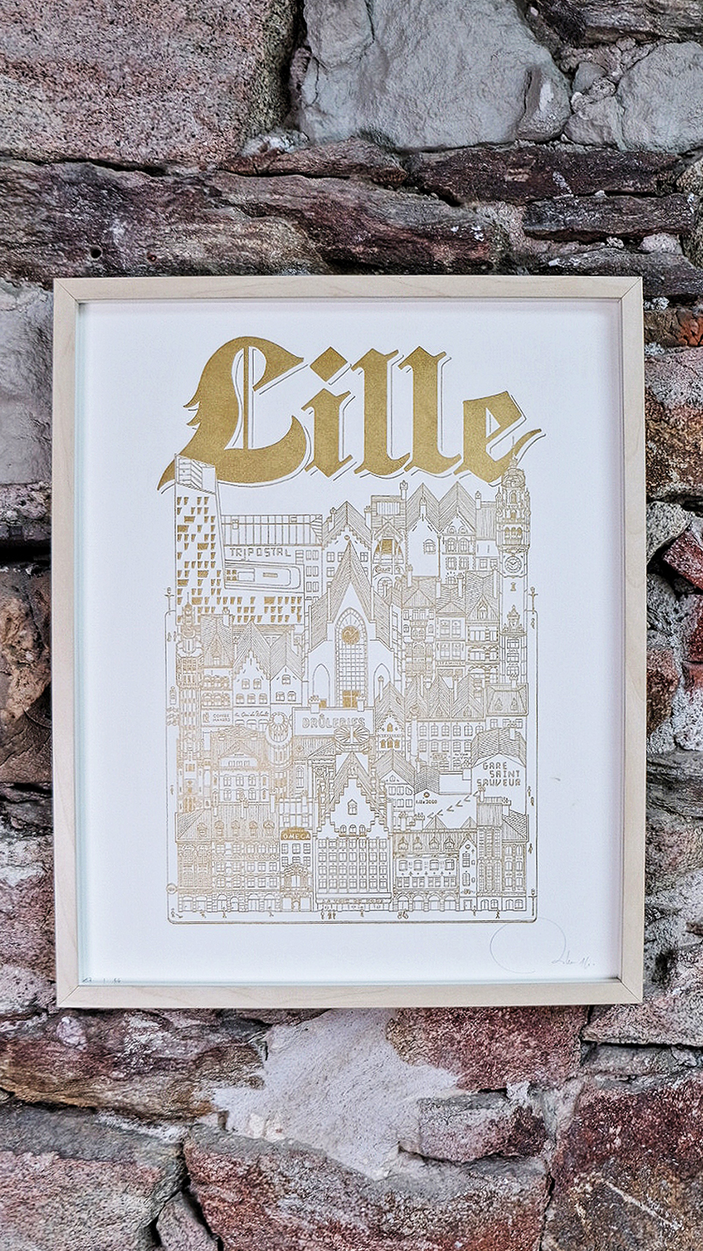 SERIE LIMITEE SHOP Docteur Paper LETTERPRESS AFFICHE ILLUSTRATION LILLE