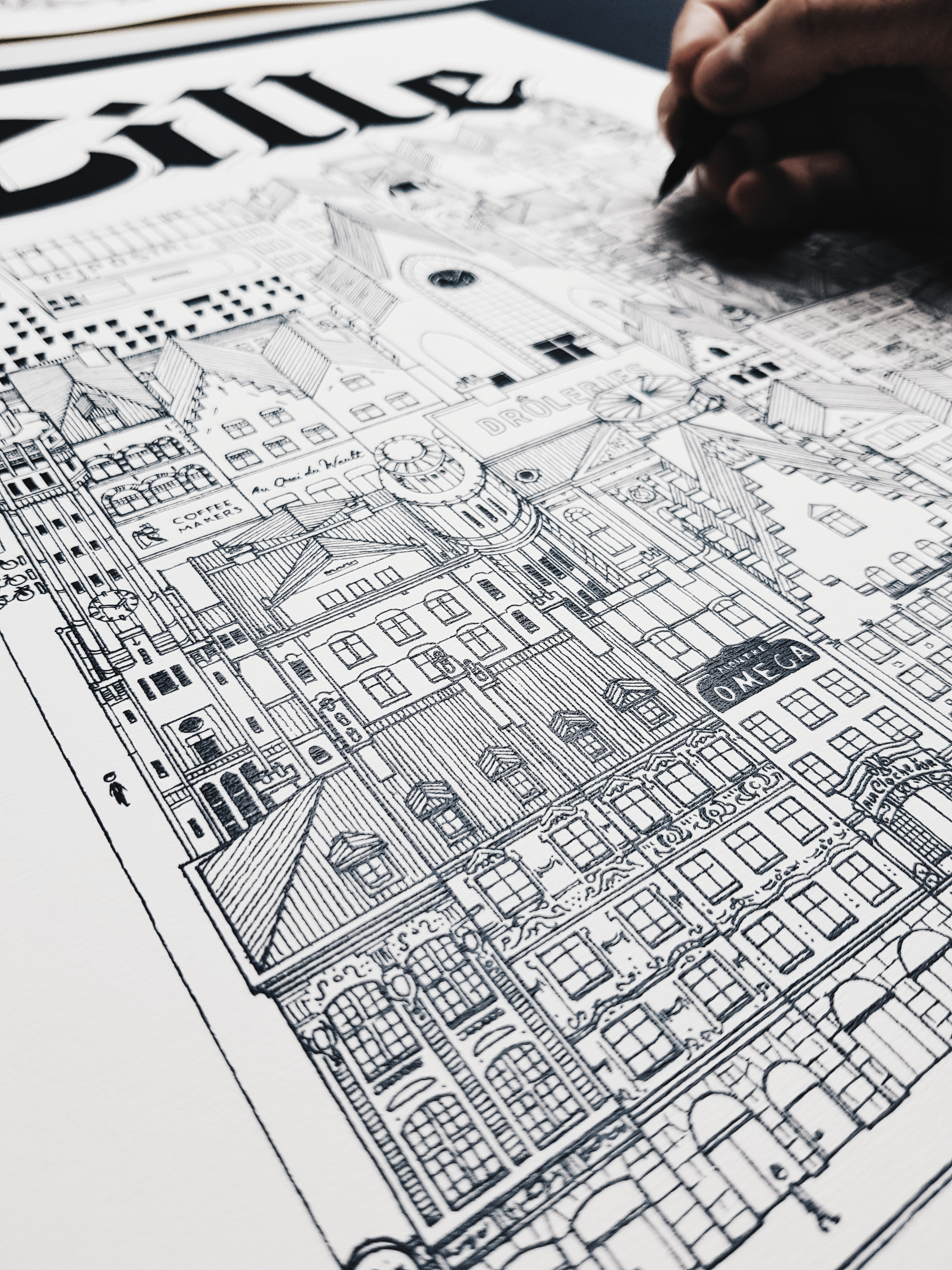ILLUSTRATION Docteur Paper VILLE CITY AFFICHE ARCHITECTURE