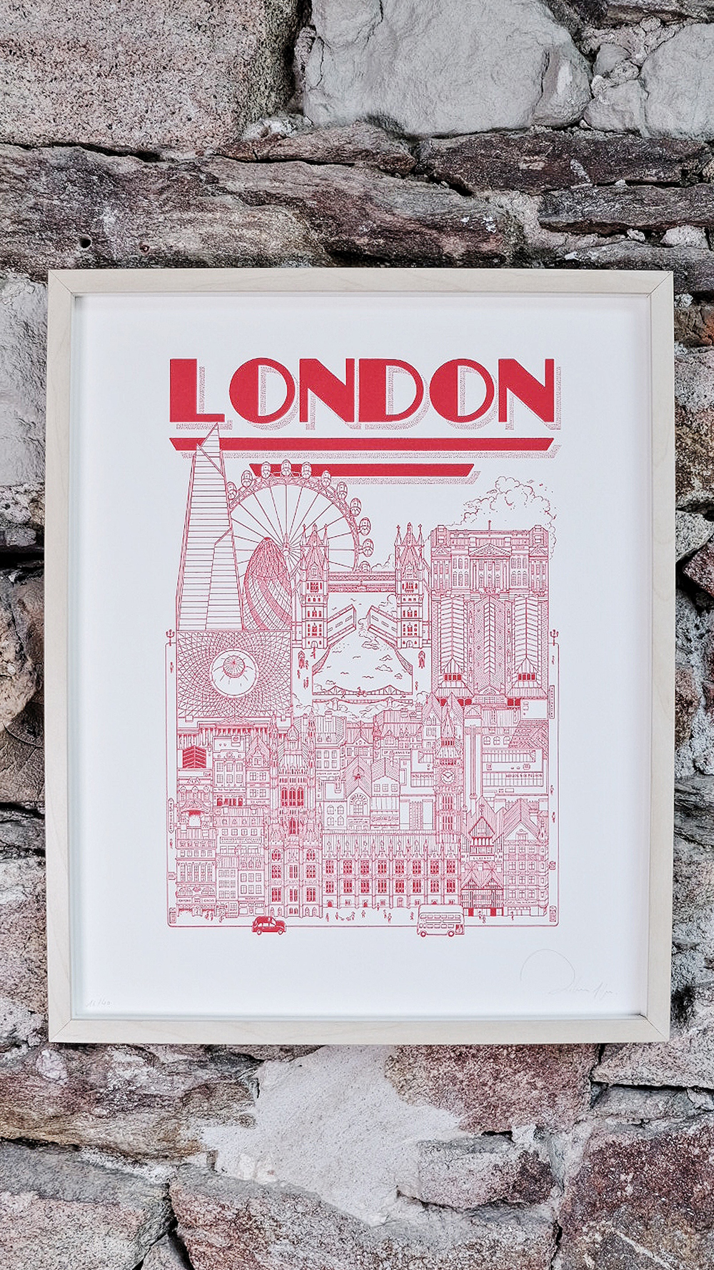 SERIE LIMITEE SHOP Docteur Paper LETTERPRESS AFFICHE ILLUSTRATION LONDON