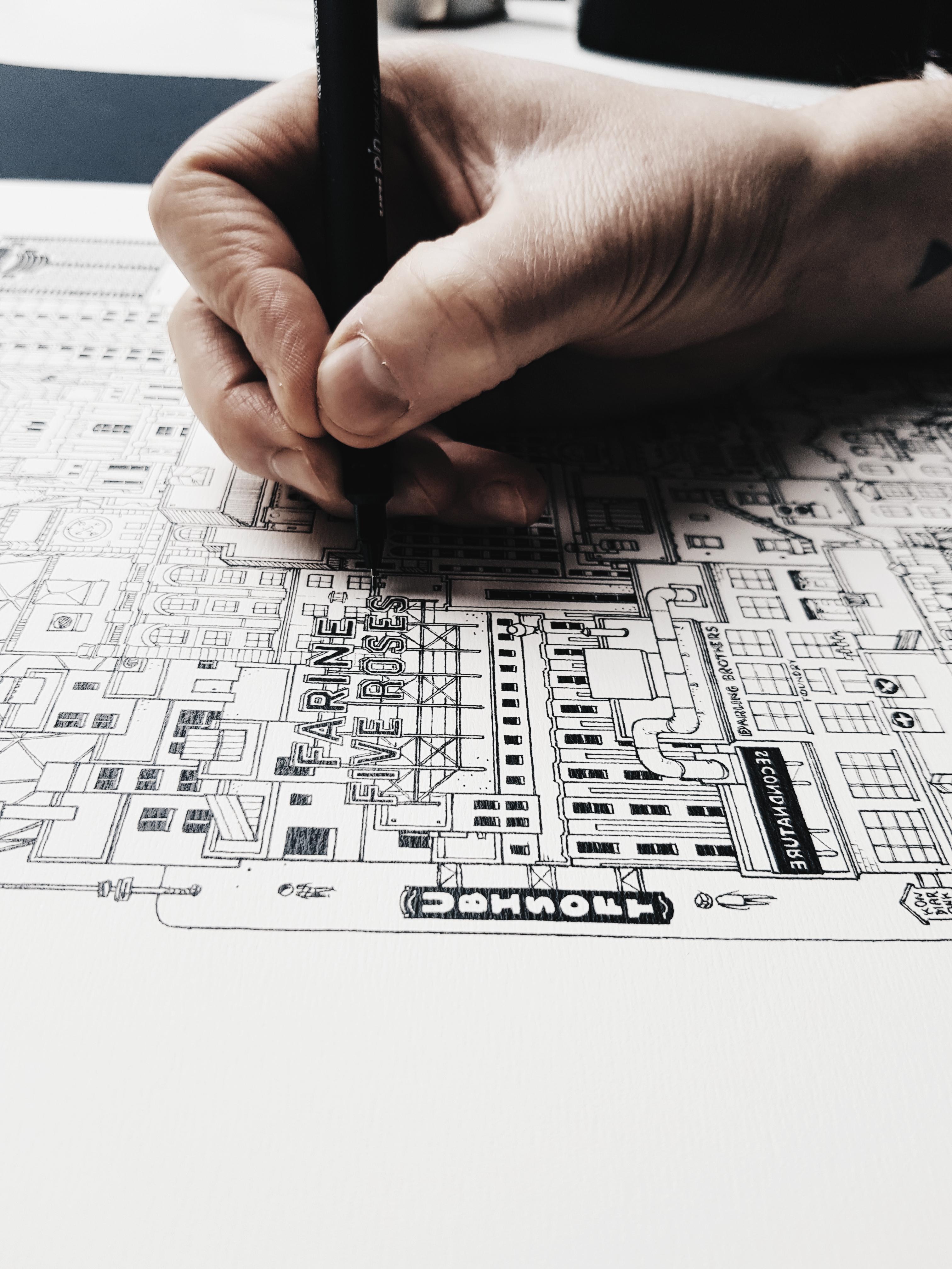 ILLUSTRATION Docteur Paper VILLE CITY AFFICHE ARCHITECTURE BERLIN