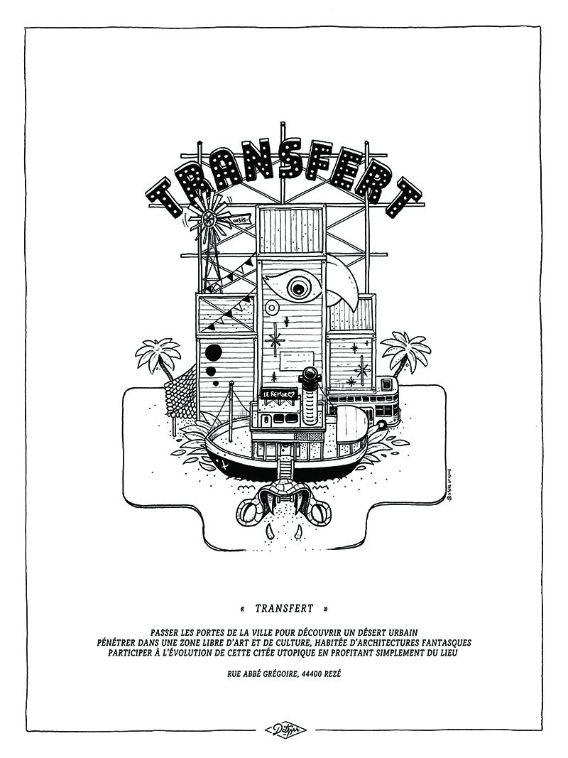 we like travel transfert Docteur Paper illustration nantes Nantes City illustrateur