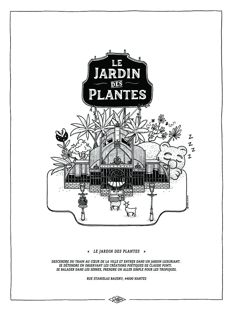 we like travel Docteur Paper illustration nantes Nantes City illustrateur le jardin des plantes