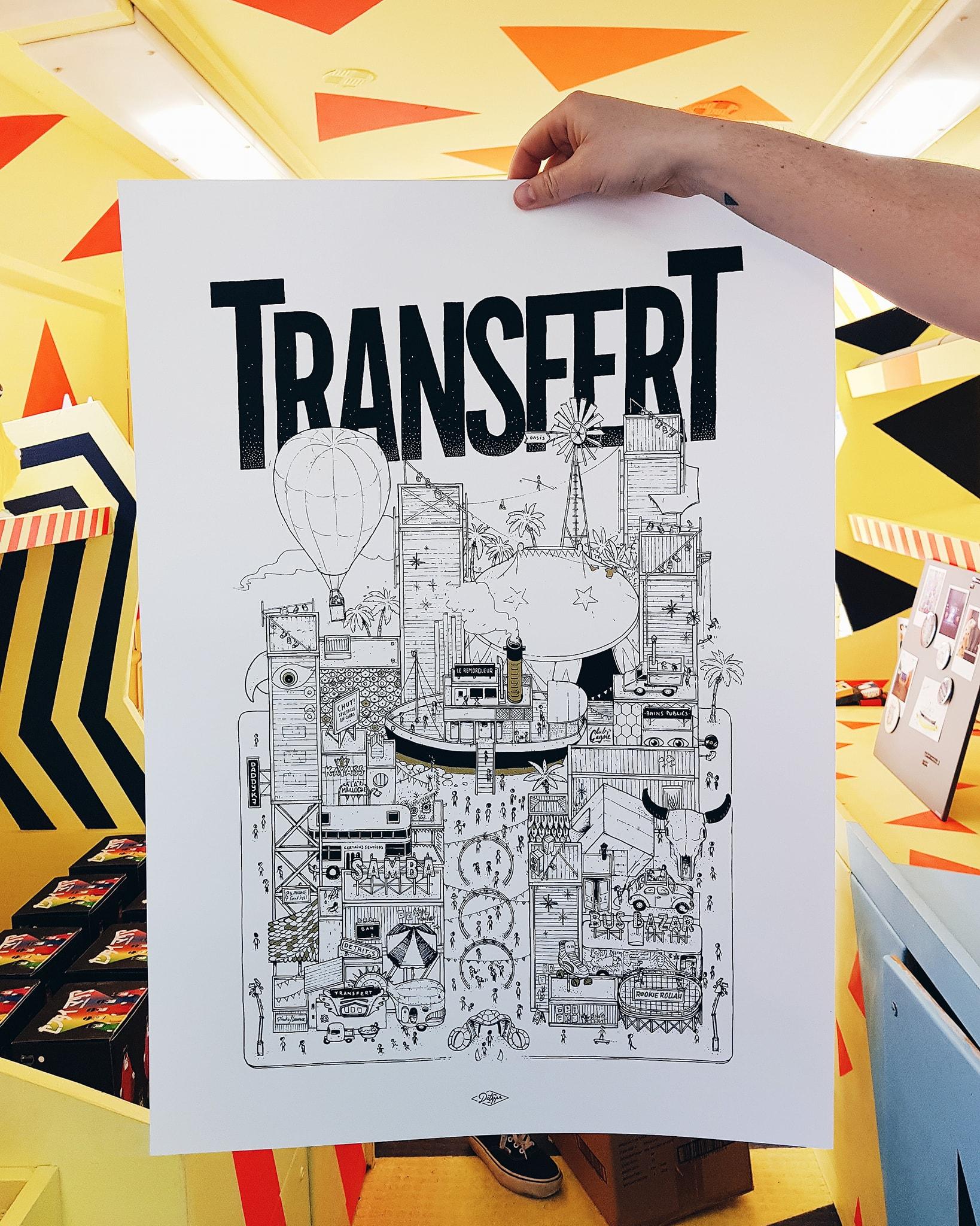 TRANSFERT Docteur Paper ILLUSTRATION ILLUSTRATEUR NANTES Nantes City